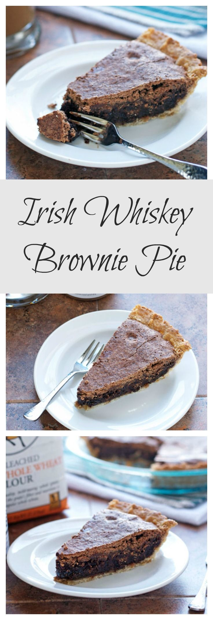 Irish Whiskey Brownie Pie from Well Plated by Erin, perfect for St. Patrick's Day!