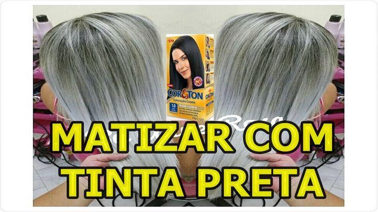 COMO MATIZAR E PLATINAR AS MECHAS COM 1.0 TINTA PRETA