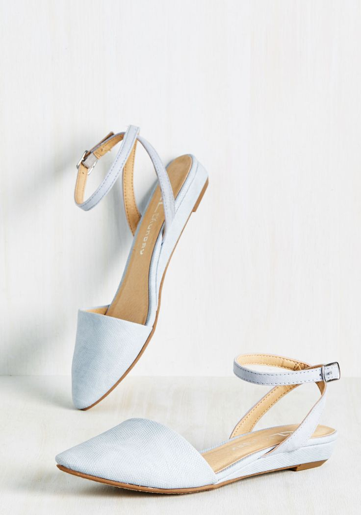 Sweet the Board Flat in Sky. Cute, classy, and captivating - these pastel blue flats have it all! #blue #modcloth