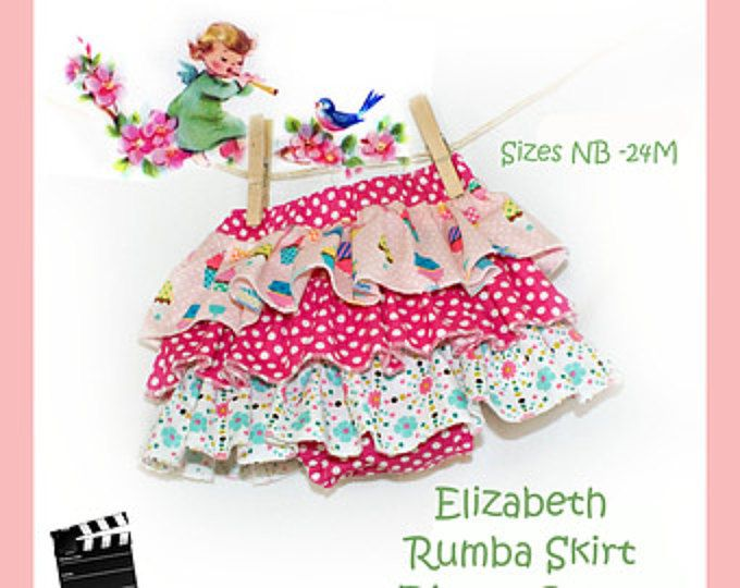 Diaper Cover Rumba Skirt Easy PDF Sewing Pattern Video Tutorial Baby Toddler Nappy Beginner NB 3 6 9 12 18 24 months