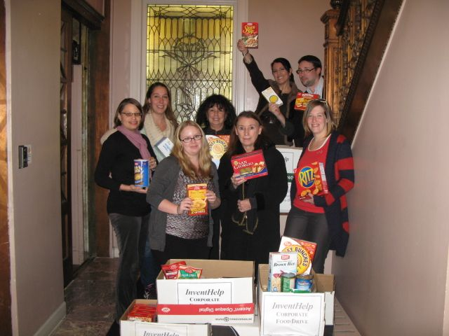 The holidays are full of joy because of family, friends, and holiday gatherings. But there are some less fortunate people who would just like to be full this holiday season. That's why InventHelp® and our family of affiliated companies are proud of our continued involvement collecting non-perishable food for the Western Pennsylvania Salvation Army.