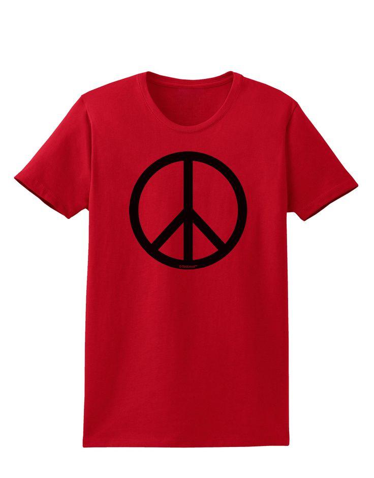 TooLoud Peace Sign Symbol Womens T-Shirt