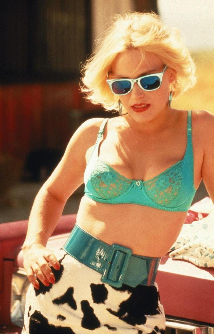 True Romance - Patricia Arquette as Alabama in her trade mark blue bra #GangsterMovie #GangsterFlick
