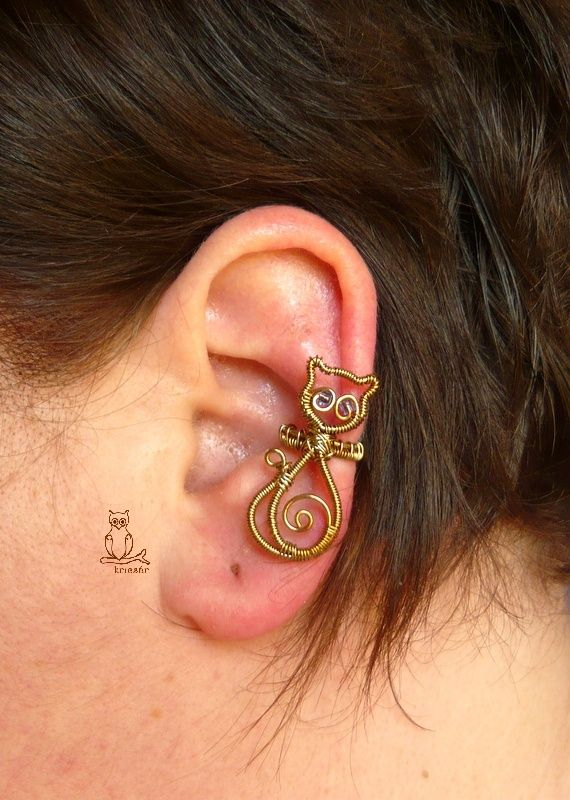Kricsár - handmade copper jewelry: Cat's Ear