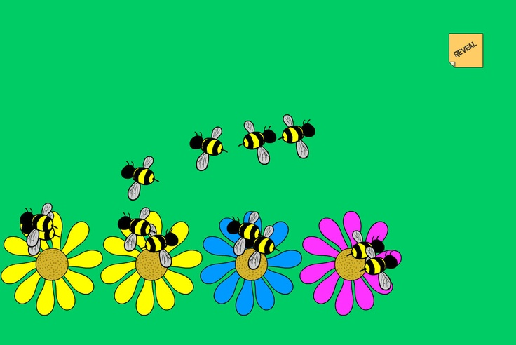 Equal Bees: An activity for finding equally sized groups of bees.