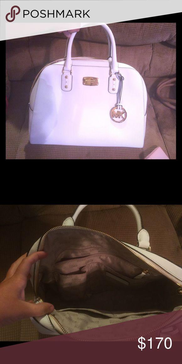Micheal Kors White Dome Satchel Great Condition! Michael Kors Bags Satchels
