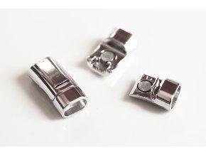 luxusní magnetické zapínání (13x26mm, 1ks, v barvě stříbra, baculatější)