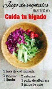 Jugo de vegetales: Cuida tu hígado   Hábitos Health Coaching