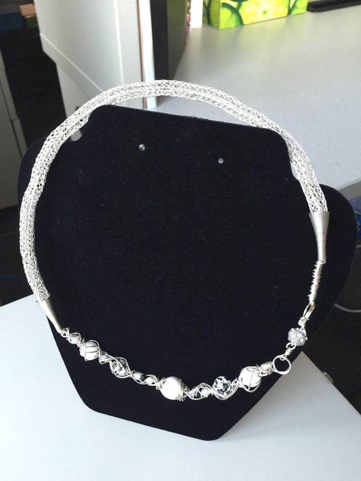 Viking knit weave necklace by FunkyandfunByJaime on Etsy