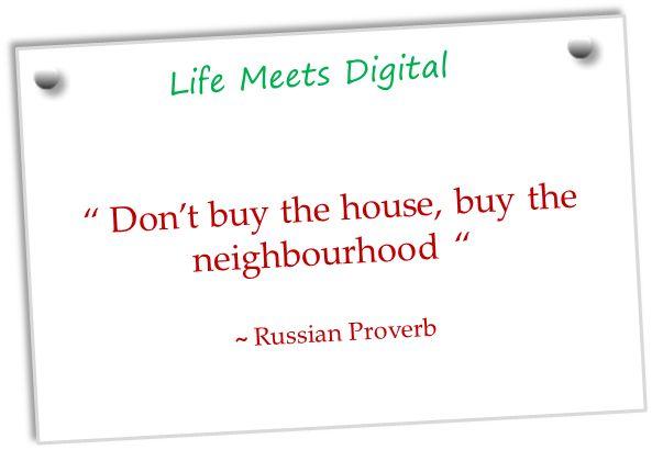 Dont buy the house, buy the #neighbourhood