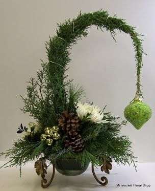 Millinocket Floral Shop Centerpiece http://www.tablescapesbydesign.com https://www.facebook.com/pages/Tablescapes-By-Design/129811416695