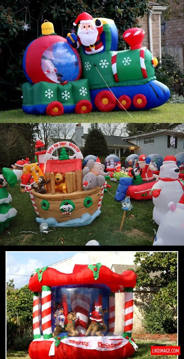 Christmas blow up decorations - 8 PHOTO! | Christmas time ...