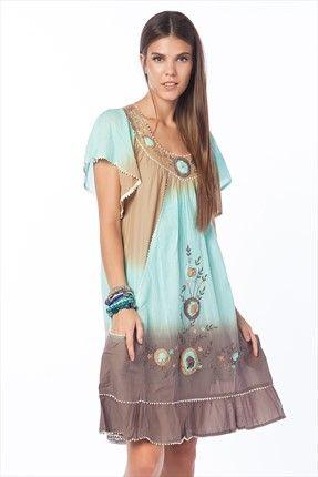 Haftalık Stil Rehberi by Olgun Orkun · Kadın Tekstil - Nane Yeşili Elbise O&O-5B284019 sadece 69,99TL ile Trendyol da