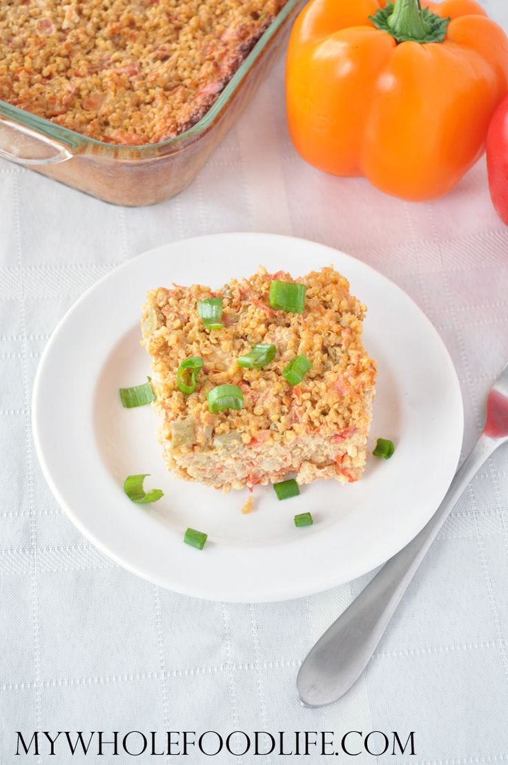Quinoa Pizza Casserole.  OMG so good and very easy to make.  Healthy comfort food.  Vegan and gluten free.