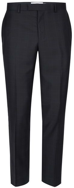 Topman CHARLIE CASELY-HAYFORD X Navy Check Skinny Work Suit Pants