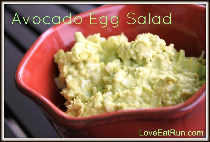 Avocado Egg Salad | food and drink | Pinterest