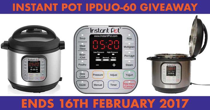 Instant Pot IP-DUO60 Pressure Cooker Giveaway  http://www.leanerbydesign.com/giveaways/instant-pot-ip-duo60-pressure-cooker-giveaway/?lucky=1909