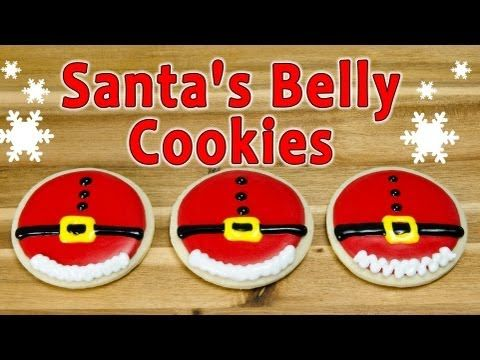 To continue our cookie theme, in this video we show you how to decorate sugar cookies with royal icing to make Santa Claus's belly. These are a great Christmas cookie to share with friends and family over the holidays. How to make Royal Icing: http://youtu.be/RnxHBne-uVo How to make Sugar Cookies: http://youtu.be/87TncLnUSFA How to Flood Cookie...