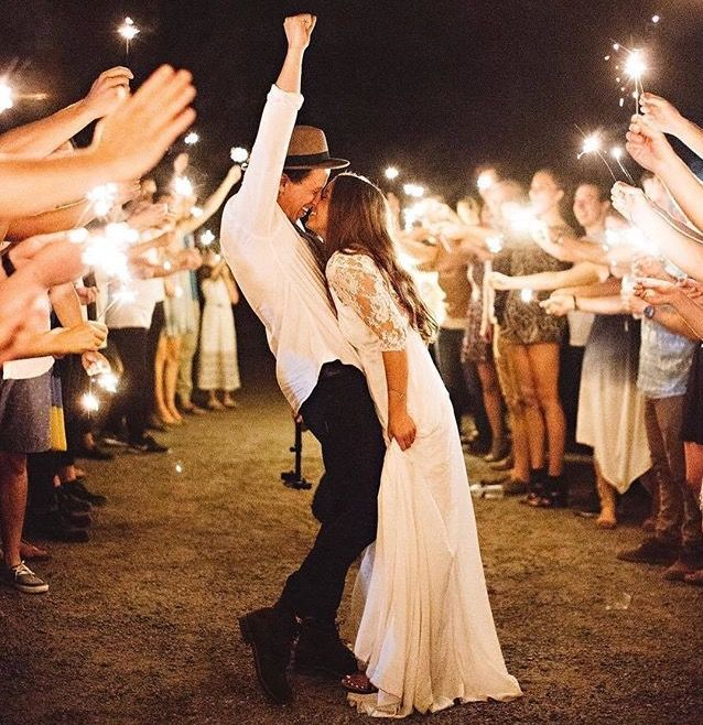 Rustic Outdoor Wedding Reception (Sparklers)