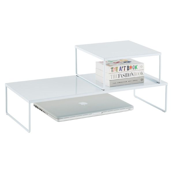 Our NEW and modern Franklin™ Desk Risers can be used to either maximize desk space, shelf space, or under counter space depending on your needs.