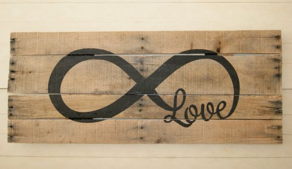 Infinity Love Pallet Art by CraftCrazedMom on Etsy, $75.00