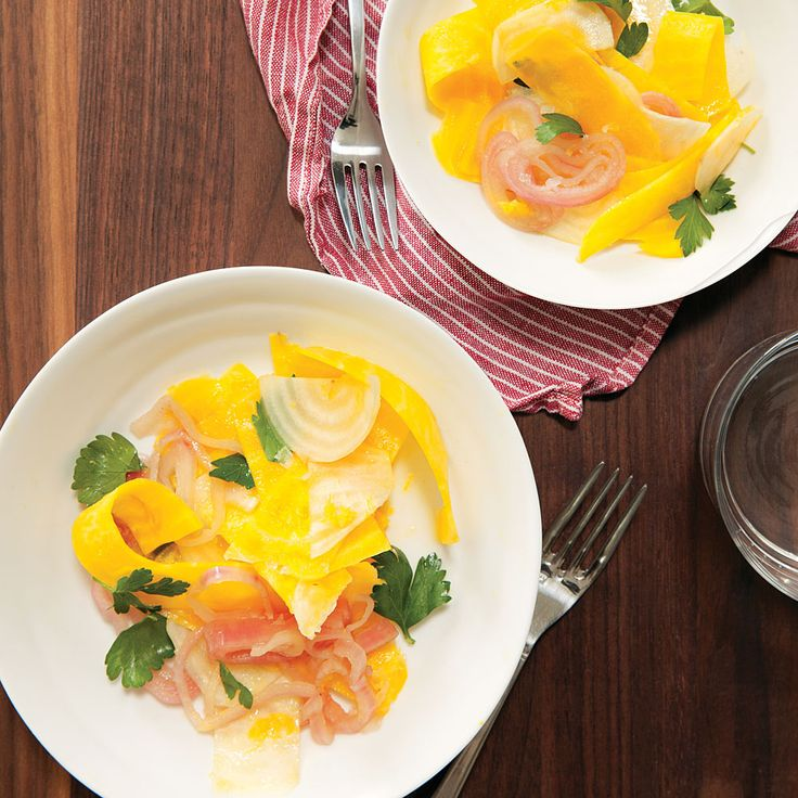 Beet Ribbon Salad with Lemon & Pickled Shallots Recipe    MyRecipes