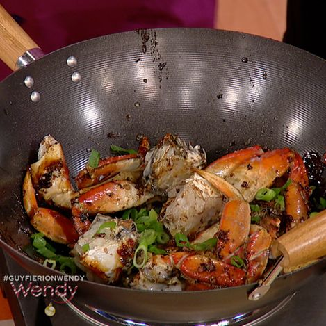 Guy Fieri's Spicy Cracked Dungeness Chile Crab! Saw this on The Wendy Williams Show...looks delicious!