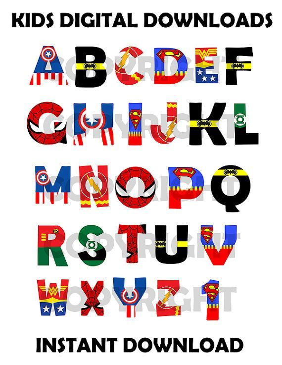 Superhero Font Generator Clip Art | Superheroes party in 2019