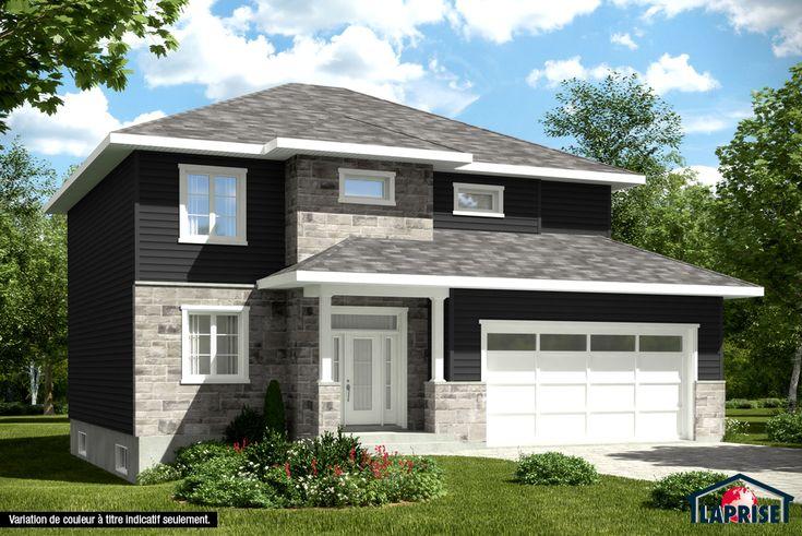 zen contemporain lap0336 maison laprise maisons pr usin es rev tement ext rieur et. Black Bedroom Furniture Sets. Home Design Ideas