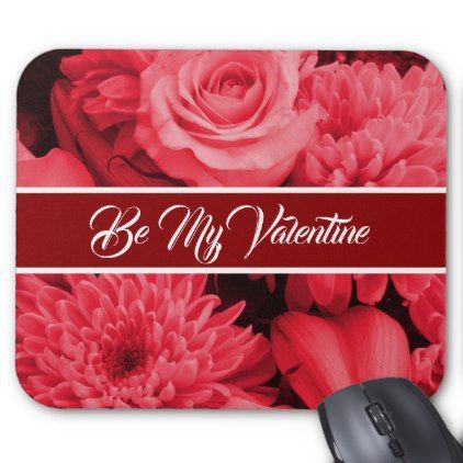 Romantic Valentines Red Rose Mouse Pad - valentines day gifts love ...