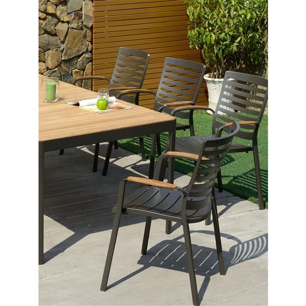 Ensemble De Repas Portals De Scancom 9 Mcx Scan1034 Reno Depot In 2020 Furniture Sets Outdoor Furniture Outdoor Tables