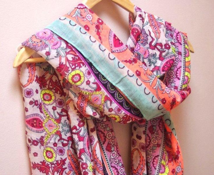 LARGE BOHEMIAN Floral Tassel SCARF/WRAP #Unbranded #Scarf
