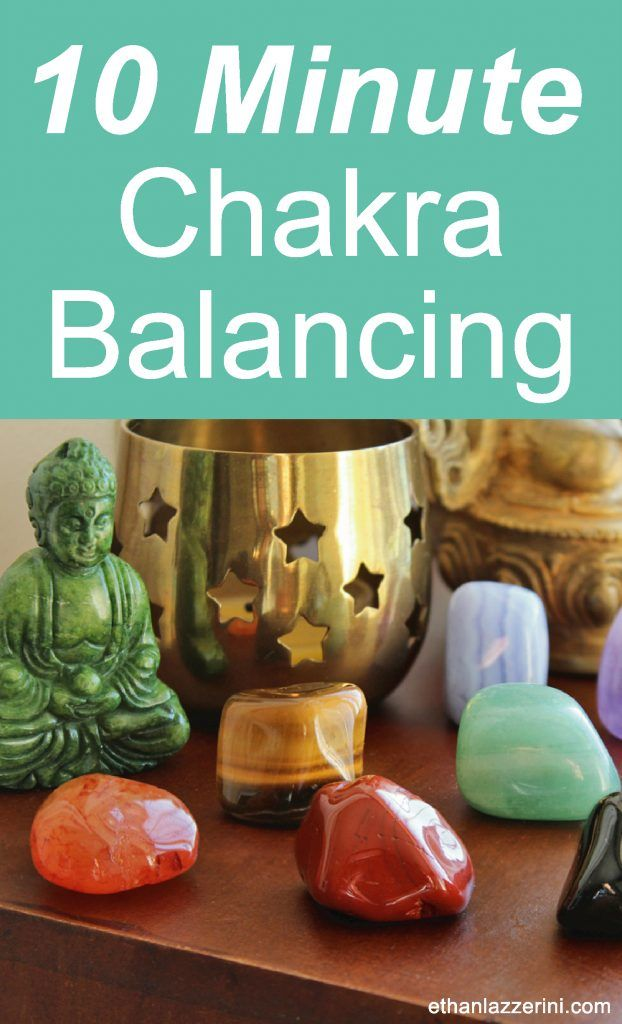 10 Minute Chakra Balancing and Clearing. Crystals for all chakras!