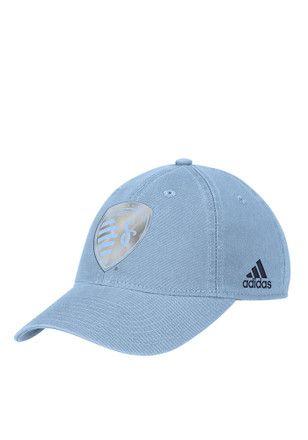 Adidas Sporting Kansas City Light Blue Foil Adjustable Hat