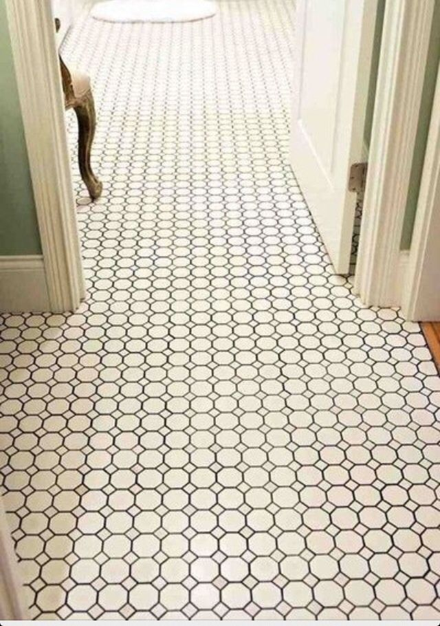 Daltile Octagon and dot tile from Home Depot ... much less expensive than hex tile