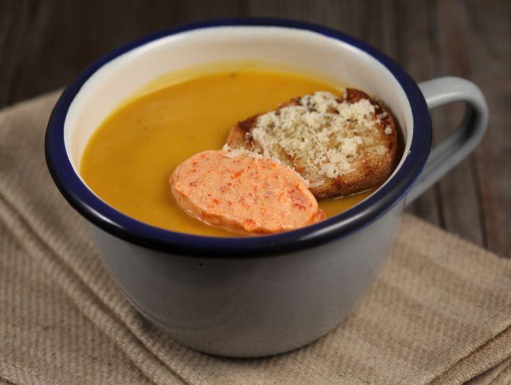 Supa crema de dovleac copt cu fenicul