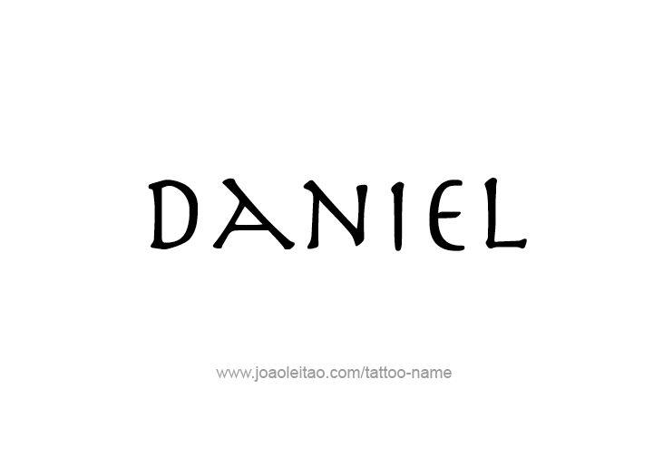Tattoo Design Prophet Name Daniel