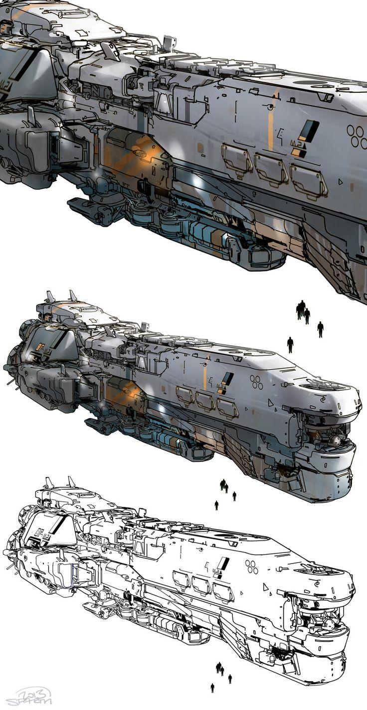 halo 5 - Meridian spaceship, sparth . on ArtStation at https://www.artstation.com/artwork/4a0v1