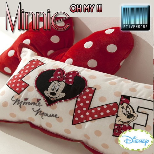 Disney Minnie Mouse Oh My Red Black Single Double Duvet Set Cushions Fleece Rug   eBay