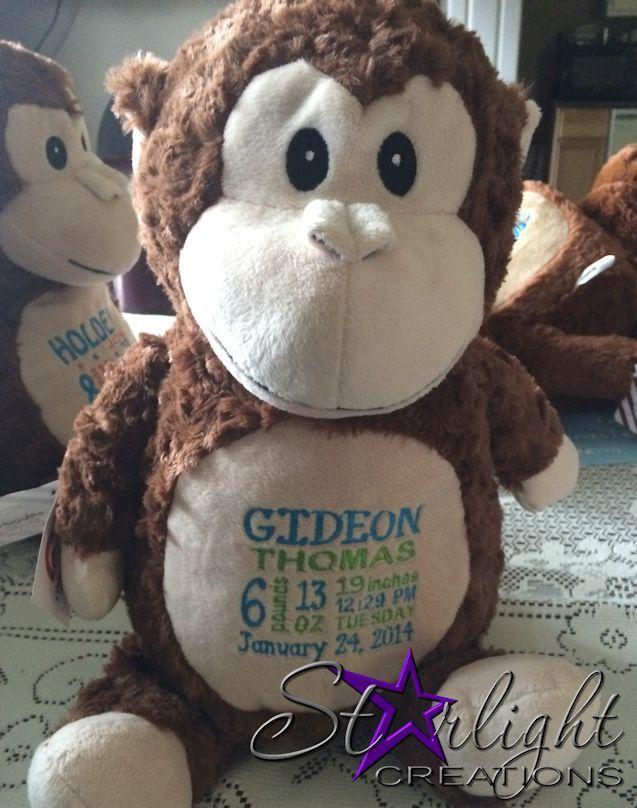 Monkey - Personalized Stuffed Animal