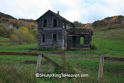 Haunted House in Autumn, Richland County, Wisconsin