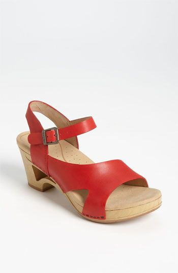 I love these very comfy shoes! I found out about them from my friend Cindy! Dansko 'Tasha' Sandal available at #Nordstrom
