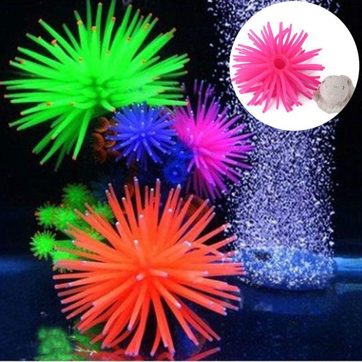 Новые Пластиковые Аквариум Украшения Многоцветный Искусственный морской еж мяч Аквариум небольшой коралловые Украшения Ландшафта Декора W1
