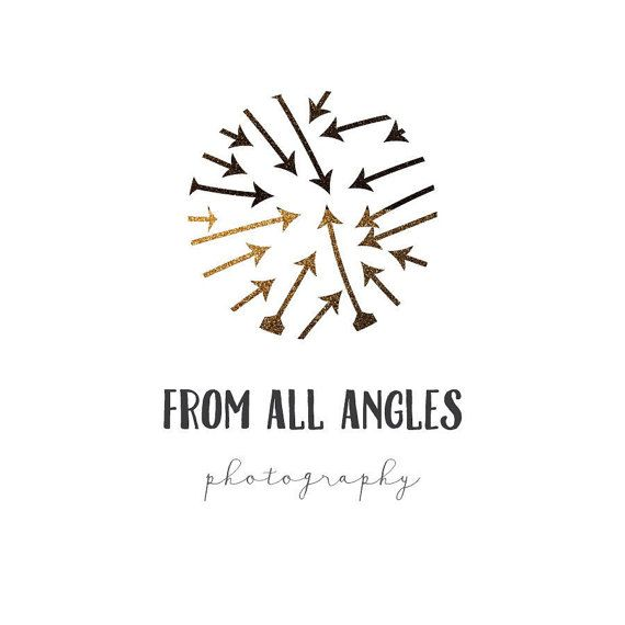 Premade Arrow logo Gold & Black- Premade Photography Logo and Watermark Design - Photography or Boutique Logo  - Business Branding