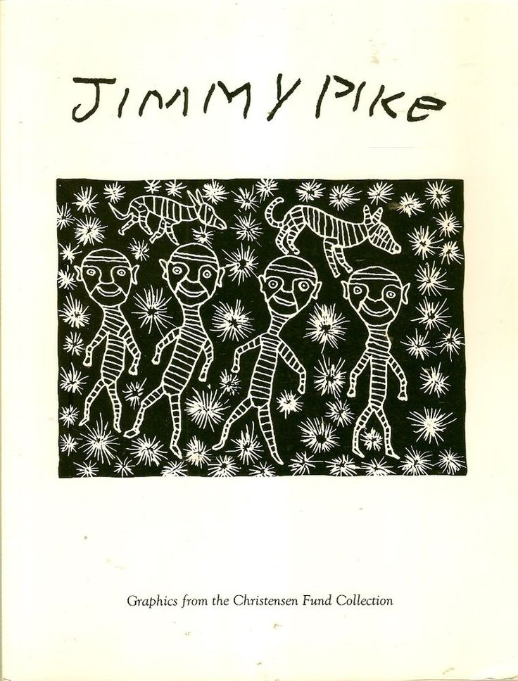 JIMMY PIKE was born in the Great Sandy Desert and his early life was spent as a member of a nomadic group. His family lived traditionally by hunting and gathering, moving from waterhole to waterhole according to the seasons. He started painting in 1980. Jimmy Pike attended art classes when he was emprisioned for murdering a man at Fitzroy Crossing. He became a painter but turned to lino-cut print-making.