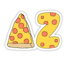 delta zeta pizza Sticker