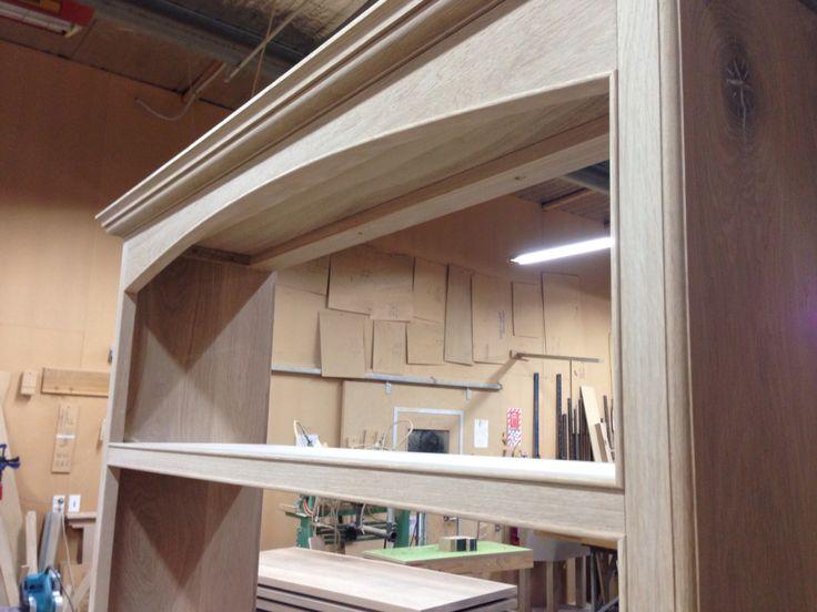 Bookcase detail, oak