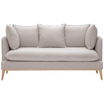 2 Sitzer Sofa Beige Grau Designer Couch Sofa
