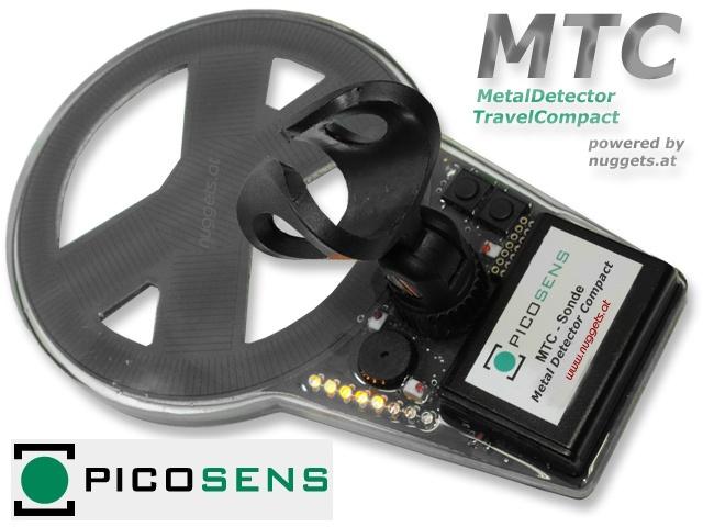 Der neue MTC Metal Detector Travel Compact von picosens - superleicht und superklein - der ideale REISE Detektor