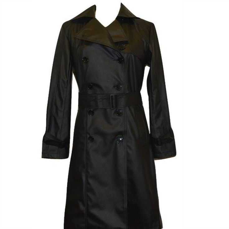 Vegan Leather Trench Coat 'Irene'
